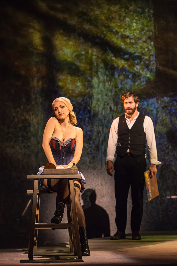 Annaleigh Ashford as Dot and Jake Gylllenhaal as George in Sunday in the Park with George.