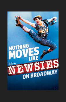 Newsies (Actor's Fund Performance), Nederlander Theatre, NYC Show Poster