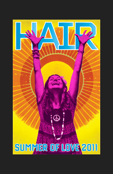 Hair, St. James Theatre, NYC Show Poster