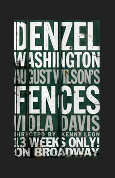 Fences, Cort Theatre, NYC Show Poster
