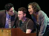 George Salazar as Michael, Nick Blaemire as Jon and Ciara Renee as Susan in Tick, Tick...BOOM!.