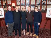 The Present company rallies around its headliners. Stuart Thompson, Marshall Napier, Cate Blanchett, Richard Roxburgh and Chris Ryan snap a pic.