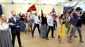 Watch Nick Cartell & the Cast of Les Miserables Raise the Flag in Rehearsal