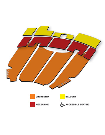 Seatmap for The Majestic Theatre
