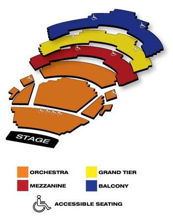 Seatmap for Muriel Kauffman Theatre - Kauffman Center
