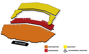 Seatmap for Queen Elizabeth Theatre