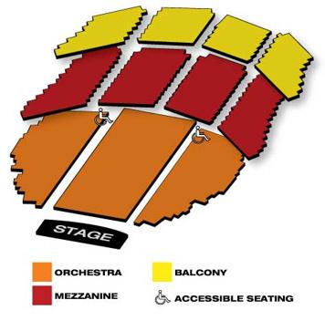 Seatmap for Emerson Colonial Theatre