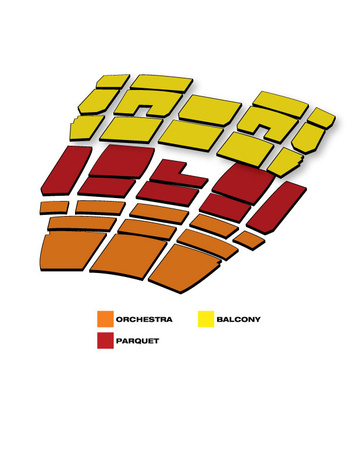 Seatmap for Mahalia Jackson Theater