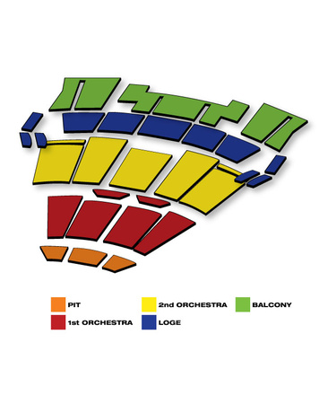 Seatmap for Moran Theatre Times Union Center