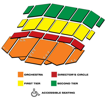 Seatmap for Andrew Lloyd Webber's Love Never Dies, The Phantom Returns