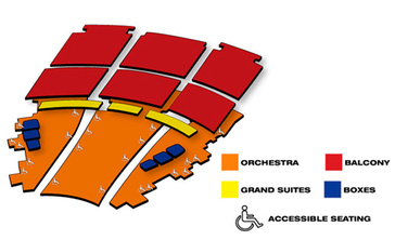 Seatmap for Rockin' Road to Dublin