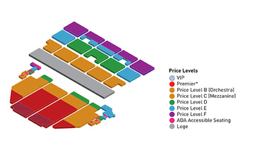 Seatmap for Roald Dahl's Charlie and the Chocolate Factory