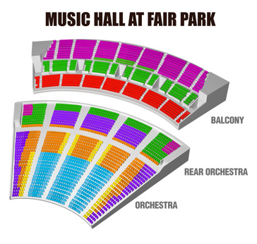 Seatmap for School of Rock—The Musical