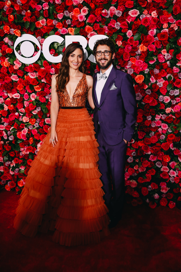 The hosts with the most! Sara Bareilles and Josh Groban are all smiles for the big night.