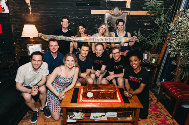 The Play That Goes Wrong cast gets together.