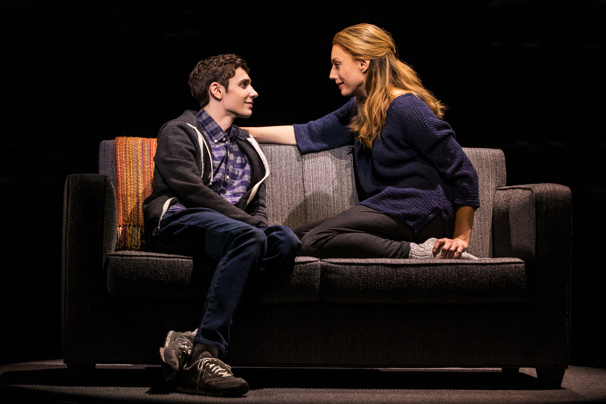 Ben Levi Ross (Evan Hansen) & Jessica Phillips (Heidi Hansen) in the national tour of Dear Evan Hansen, photo by Matthew Murphy