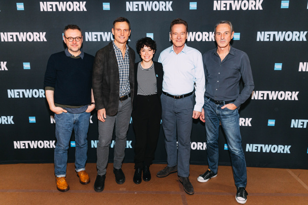 This Just In! See Bryan Cranston, Tatiana Maslany, Tony Goldwyn & More Prep for Network on Broadway