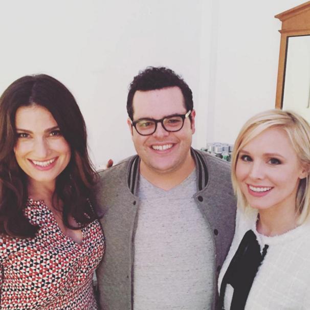 See Idina Menzel, Josh Gad & Kristen Bell's Toasty Warm Frozen Reunion