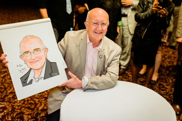 Make a Joyful Noise! The Color Purple Director John Doyle Presented with Sardi's Caricature