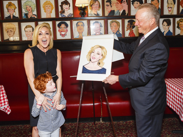 She Loves Me Tony Nominee Jane Krakowski Receives Sardi's Caricature