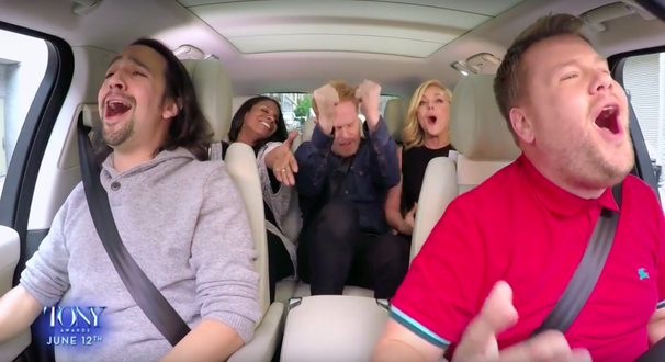 Before the Tony Awards,  James Corden Hosts All-Star Broadway Carpool Karaoke