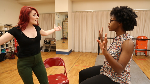 Give a Damn! RENT Tour's Katie LaMark & Jasmine Easler Rock 'Take Me or Leave Me' in Rehearsal