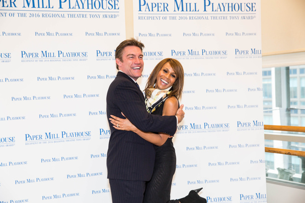 We're saving all our love for this pair! The Bodyguard stars Judson Mills and Deborah Cox strike a pose.
