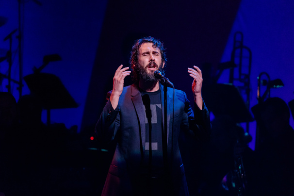 "Poised just one night before his Broadway debut in Natasha, Pierre and the Great Comet of 1812, Josh Groban sings ""Over the Rainbow.""(Photo: Adam Schultz)"