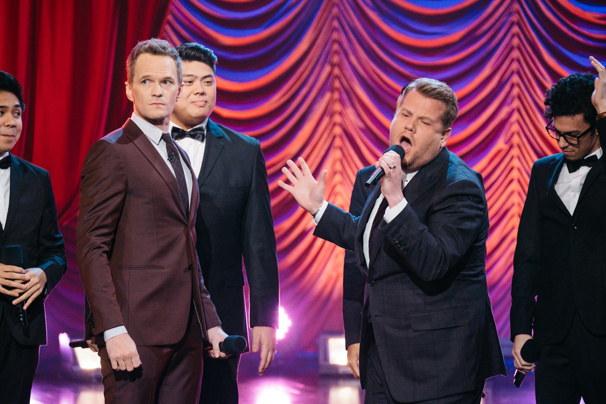Watch Neil Patrick Harris & James Corden Spit Hamilton Rhymes & More in This Epic Broadway Riff-Off