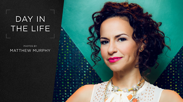 The Woman Is Non-Stop! Spend a Day in the Life with Hamilton Schuyler Sister Mandy Gonzalez
