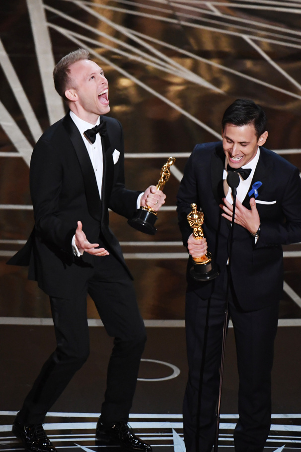 And the Winner Is...Broadway! Pasek & Paul, Emma Stone, Viola Davis & More Win Big at the Oscars