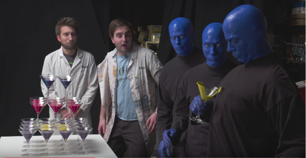 Perfect Game! Watch Blue Man Group & The Slow Mo Guys Cause Beautiful Destruction in Slow Motion