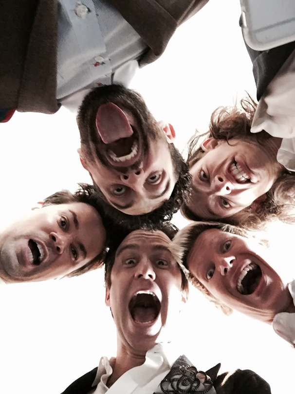 Let's Hear It for the Boys! Best Featured Actor in a Musical Noms Snap Silly Selfie