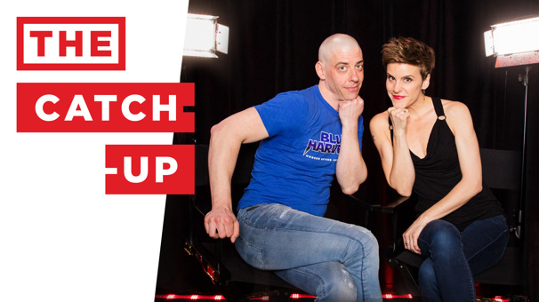 Funniest Catch-Up Ever! BFFs (and Tony Noms!) Christian Borle of Chocolate Factory and Jenn Colella of Come From Away