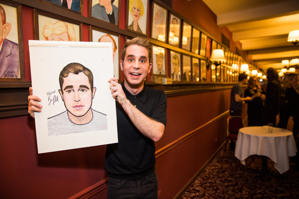 You Will Be Found...at Sardi's! Dear Evan Hansen's Ben Platt Receives Iconic Portrait