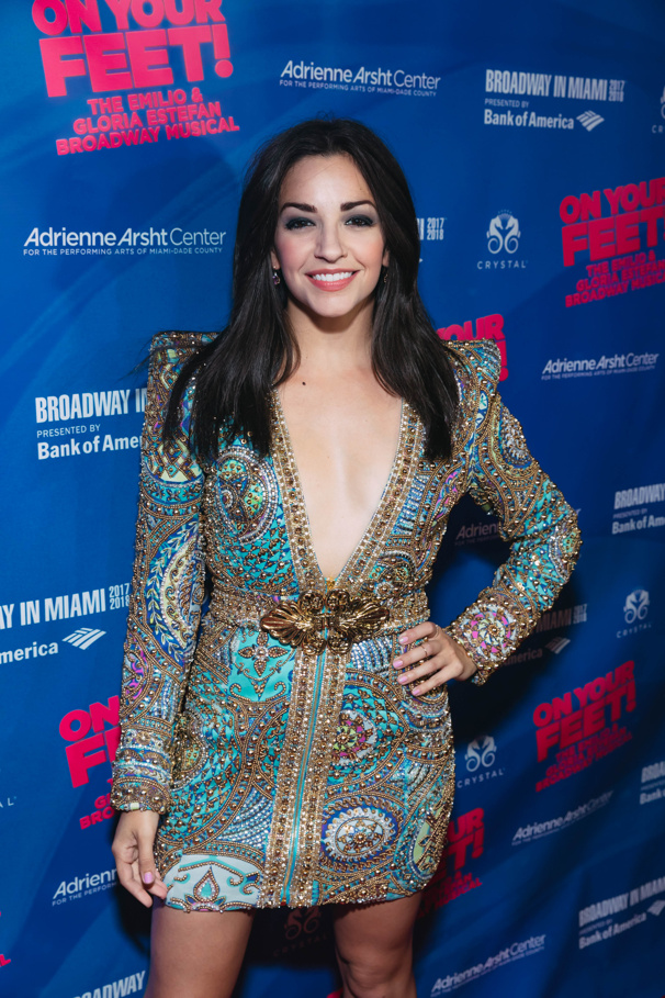 Original On Your Feet! Broadway star Ana Villafañe works the red carpet.