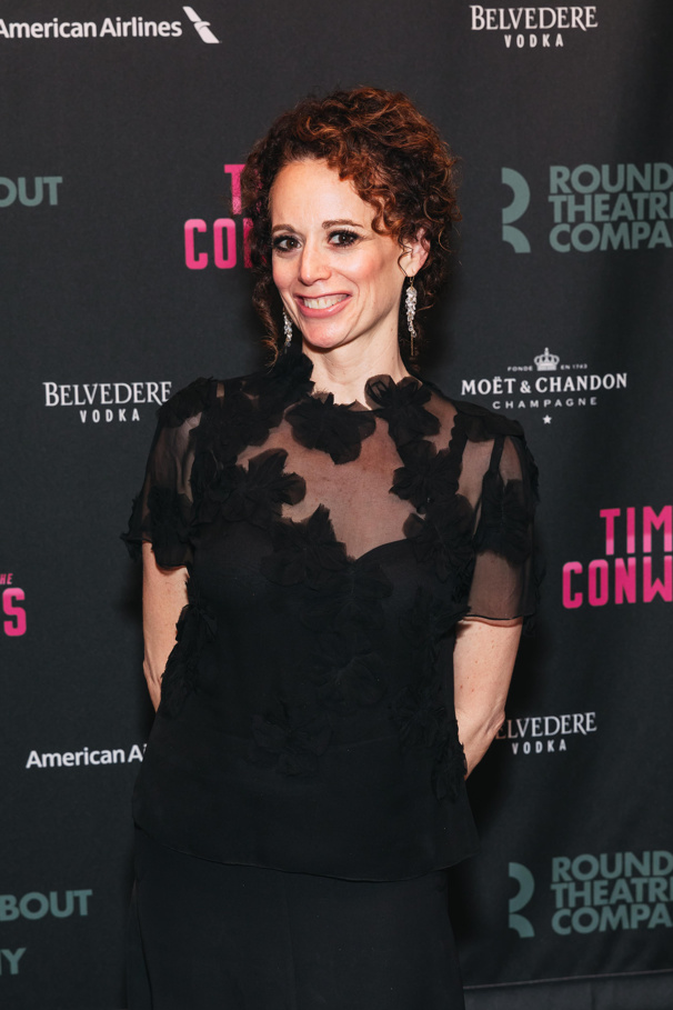Time and the Conways director Rebecca Taichman celebrates opening night.