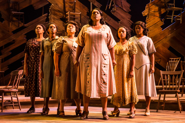 Carrie Compere (Sofia) & the North American tour cast of The Color Purple, photo by Matthew Murphy
