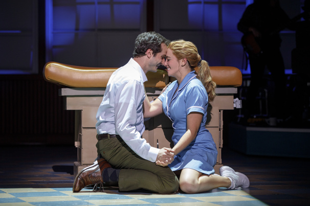 Bryan Fenkart & Desi Oakley in the national tour of Waitress, photo by Joan Marcus