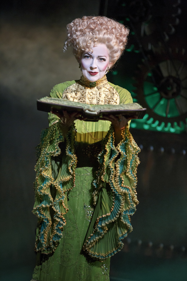Isabel Keating as Madame Morrible in the national tour of Wicked