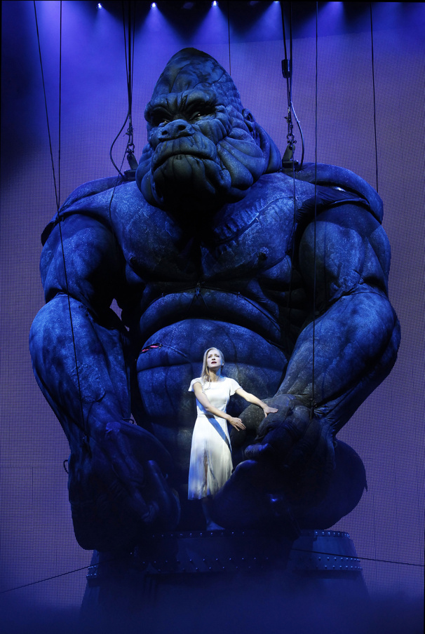 "Esther Hannaford as Ann Darrow in the Australia production of ""King Kong""(Photo: Jeff Busby)"