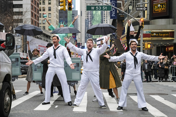 Hugh Jackman, James Corden & Zac Efron Perform an Epic Medley of On the Town, Guys and Dolls and Fame