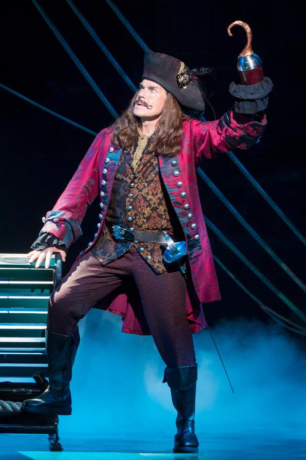 John Davidson as Captain Hook in Finding Neverland