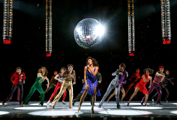 Ariana DeBose as Disco Donna and the cast of Summer: The Donna Summer Musical.