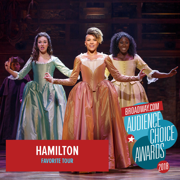 The Accolades are Non-Stop! Hamilton Wins the 2018 Broadway.com Audience Choice Award for Favorite Tour