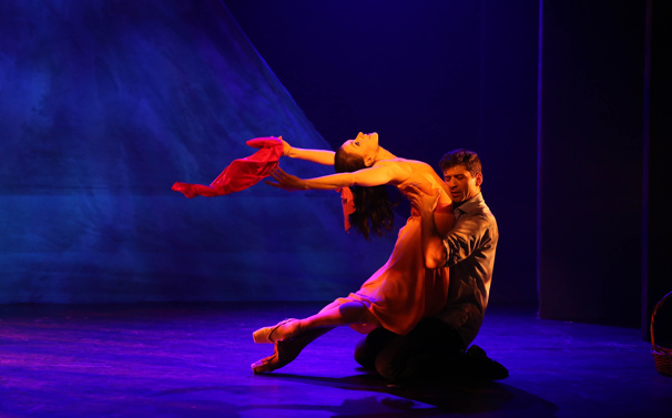 Irina Dvorovenko and Tony Yazbeck in The Beast in the Jungle.
