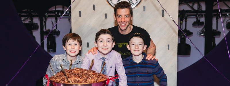 christian borle the cast of charlie and the chocolate factory  christian borle the cast of charlie and the chocolate factory celebrate 200 performances buzz com