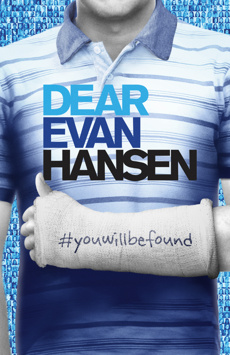Dear Evan Hansen, Music Box Theatre, NYC Show Poster