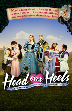 Head Over Heels, Hudson Theatre, NYC Show Poster
