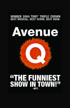 Avenue Q, New World Stages - Stage Three, NYC Show Poster